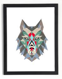 wolf head wall decor original artwork diy gift paper printable art pdf pattern animal nursery decor make your own papercraft wolf picture smaga
