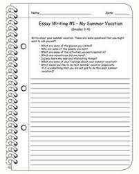 grades five amazing facts ccss writing summary worksheet for essay writing my summer vacation english worksheet for kids