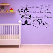 >personalized name princess once upon a time children kids baby girl  personalized name princess once upon a time children kids baby girl bedroom wall art sticker decal