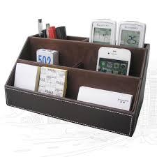 office paper holders. Kingfom 5 Pcs Modern Upscale PU Leather Office Supplies Sets, Stationery Storage Box, Pen Holder Desk Sets Black T08K-in Set From \u0026 School Paper Holders D