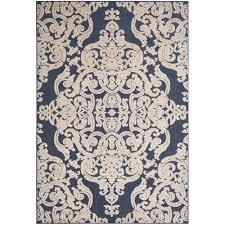 safavieh monroe navy 9 ft x 12 ft indoor outdoor area rug