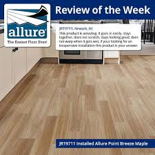 add a warm and comfortable style to your floor by exhausting this allure point breeze maple luxury vinyl plank flooring from trafficmaster
