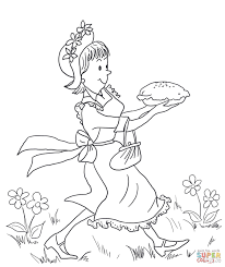 Small Picture Amelia Bedelia Carrying Lemon Meringue Pie coloring page Free