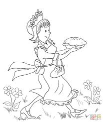 Small Picture Amelia Bedelia Carrying Lemon Meringue Pie coloring page Free
