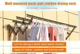 wall hanging clothes rack push pull wall mounted clothes drying folding clothes hanger hanging clothes rack wall mounted diy