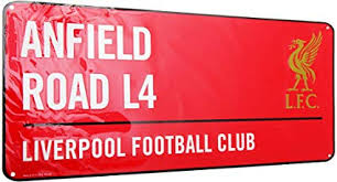 Liverpool FC Red Street Sign: Sports & Outdoors - Amazon.com