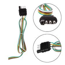 flat wire harness pin wiring diagram centre trailer light wiring harness extension 4 pin plug 18 awg flat wiretrailer light wiring harness extension