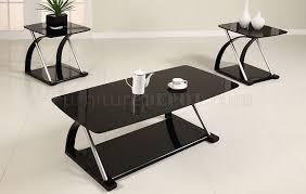 impressive glass coffee table set and black glass modern 3pc coffee table set wmetal frame