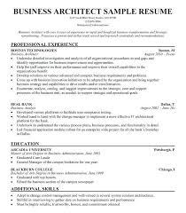 Resume Examples Architect Business Architect Resume Englishor Com