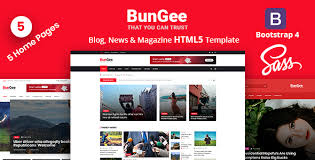Download Bungee Blog News Magazine Html5 Template Nulled