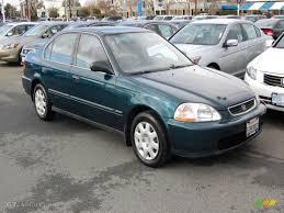 1998 Dark Green Pearl Metallic Honda Civic LX Sedan #25062225 ...