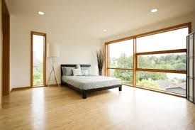 modern ious bedroom with hardwood floors