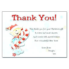 Christmas Note Template Christmas Thank You Note Template Gifts A Kids Coloring Thank You