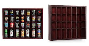 yaheetech 28 shot glass display case glass display cabinet shot glasses case holder cabinet rack solid wood is for 32 88 at com