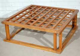 Japanese Coffee Tables Japanese Hibachi Style Wood Coffee Table At 1stdibs