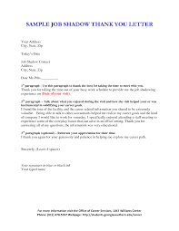 Collection Of Solutions Sample Shadowing Thank You Letter About