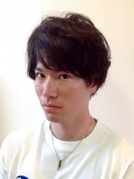ショートヘアスタイルメンズ黒髪パーマ