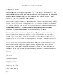 Nursing Recommendation Letter Sample Nursing Letter Of