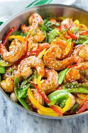 healthy shrimp dinner recipes.  Shrimp This Recipe For Teriyaki Shrimp Stir Fry Is And Vegetables Coated In  A Homemade On Healthy Shrimp Dinner Recipes R