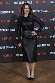 kate del castillo wore a leather dress at a photocall for s ingobernable in madrid