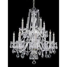 12 light polished chrome chandelier