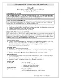 Cover Letter Skills Examples On Resume Additional Skills On Resume