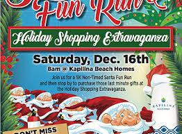 santa fun run flyer