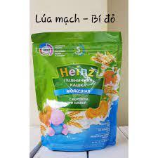 Vị Bí Đỏ Gạo Sữa] Bột ăn dặm Heinz Nga gói 200g cho bé từ 5 tháng – AN Mart