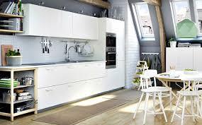 Kitchen Layouts Ikea One Wall Open Plan Kitchen