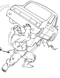 Disegno Di Hulk Lancia Unauto Da Colorare Disegni Da Colorare E