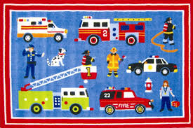 rescue heroes fire truck police car toddlercrib bedding pc