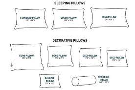 Standard Decorative Pillow Sizes
