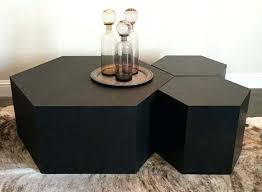 hexagon coffee table champagne colored standard furniture hexagonal glass top cocktail ideas