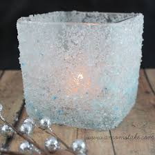 Diy Candle Holders Easy Holiday Crafts Diy Frosted Candle Holder A Moms Take