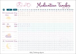 Medication Tracker Template Printable Medication Log