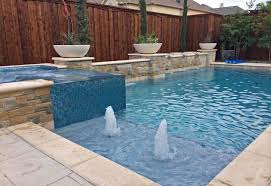 iridescent glass tile spa aqua blue pebble sheen water bowls and bubblers in frisco