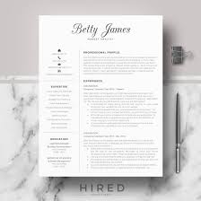 Resume Modern Ex Modern Resumes Archives Hired Design Studio
