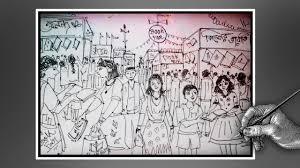 how to draw kolkata book fair book fair drowing with ballpoint pen sd drawing