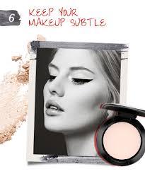 keep makeup subtle when wearing cat eye makeup
