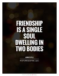 friendship is a single soul quote by aristole