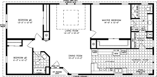 manufactured home floor plan the t n r model tnr 4544b 3 bedrooms