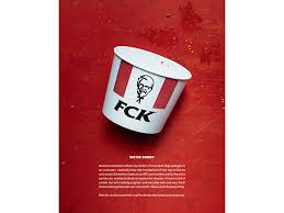 Arabad Kfc Says The F Word In Full Page Print Ad