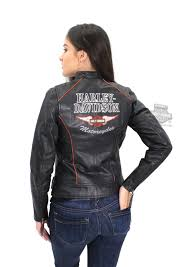 small sizes only harley davidson womens epoch winged b s black