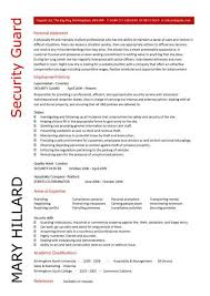 ... Exciting Security Officer Resume Sample 9 Security Guard CV ...