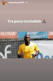 Mbaye Diagne via Instagram Story. - Galatasaray Germany