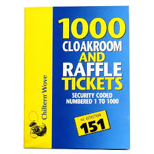 Raffle Ticket Booklets Cloakroom And Raffle Ticket Book 1000