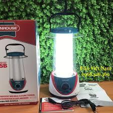 Đèn tích điện đa năng SUNHOUSE SHE-6037LA - Màu xanh lá - Chính hãng