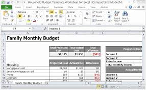 Template For Home Budget Excel Home Budget Template Capriartfilmfestival