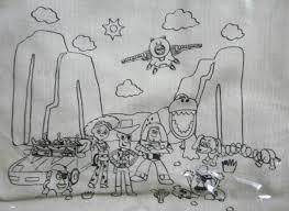 Enjoyjpdisney迪士尼 玩具總動員 胡迪 巴斯光年 三眼怪 蛋頭先生 帆布小提袋