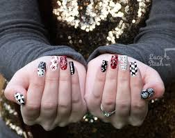 Mix & Match Red, Black & White Nail Art Design - Lucy's Stash